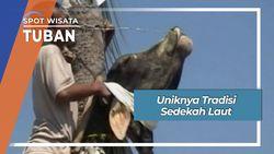 Semarak Tradisi Larung Kepala Kerbau Laut Utara Tuban Jawa Timur