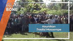 Massempe, Tradisi Unik Adu Kaki Desa Lattekko Awangpone Bone