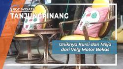Uniknya Kursi dan Meja dari Velg Motor Bekas, Tanjungpinang