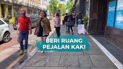 Cara London Dukung Social Distancing: Perlebar Trotoar