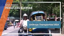 Unik Langka Transportasi BSA, Pematang Siantar