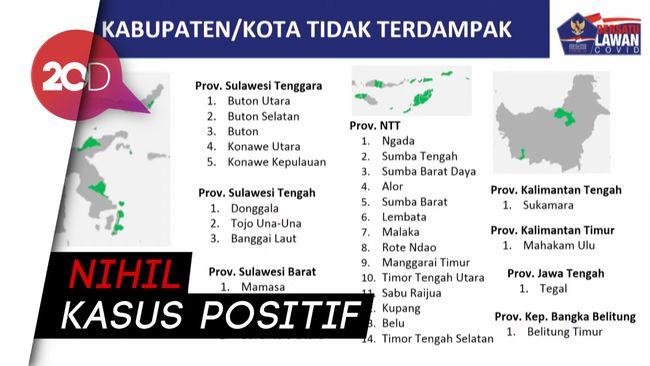Ini Daftar 102 Daerah di Indonesia Bebas Kasus Covid-19