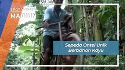Sepeda Ontel Unik Berbahan Kayu, Madiun
