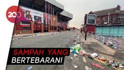 Fans Liverpool Nyampah di Anfield Saat Rayakan Juara