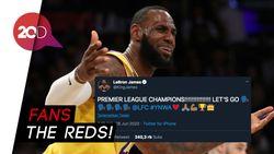 Liverpool Juara, LeBron James Ikut Gembira