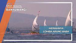 Seru Lomba Perahu Tradisional Pantai Waru Doyong Banyuwangi