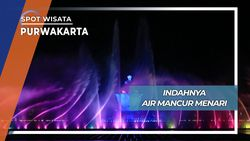Aksi Indah Air Mancur Menari Taman Sri Baduga Purwakarta