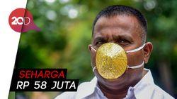 Sultan! Pria India Ini Kenakan Masker Emas Murni untuk Tangkal COVID-19