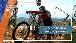 Pacu Adrenalin Sepeda Downhill Bukit Songgoriti Batu