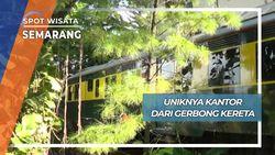 Unik Kantor Cabang dari Gerbong Kereta Api Semarang