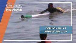 Unik Seru Lomba Balap Renang Nelayan Pasuruan