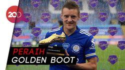 Kalahkan Aubameyang, Jamie Vardy Top Skor Liga Inggris