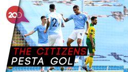 Manchester City Bantai Norwich 5-0