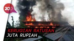 Dua Rumah di Sultra DIlalap Si Jago Merah, Pemadaman Sempat Terkendala
