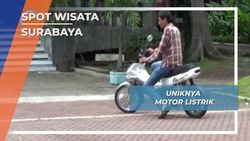 Uniknya Motor Listrik, Surabaya