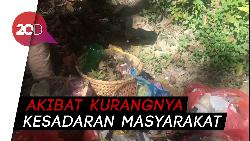 Penampakan Air Terjun Tirta Rimba Buton Panen Sampah