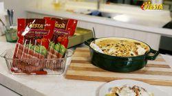 Lezat dan Meleleh Baked Spaghetti with Fiesta Bratwurst Sausage