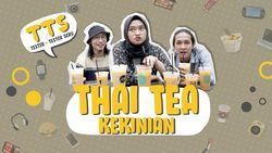 Mencoba Thai Tea Kekinian, Murah dan Segar
