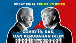 Tonton Debat Final Trump Vs Biden di detikcom!