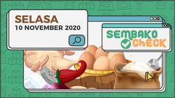 Harga Sembako 10 November 2020: Surabaya Ayam dan Telur Turun