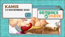 Harga Sembako 12 November 2020: Jakarta Cabai Besar Naik