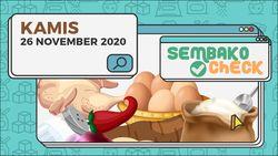 Harga Sembako 26 November 2020: Cabai di Jakarta Tembus Rp 50.000 Perkilo
