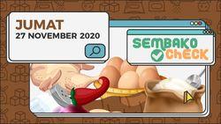 Sembako 27 November 2020: Menuju Weekend Harga Cenderung Stabil