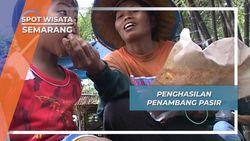 Penghasilan Maryati Sang Penambang Pasir, Semarang