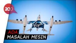 Detik-detik Uji Coba Perdana Virgin Galatic yang Gagal Terbang