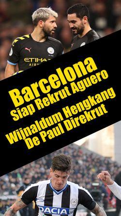 Barcelona Siap Rekrut Aguero dan Wijnaldum Hengkang, De Paul Didatangkan?