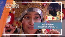 Persiapan Peserta Carnival Pentas Budaya Banyuwangi
