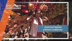 Kostum Indah asesoris Detail Pernuh Warna Carnival Pentas Budaya Banyuwangi