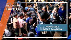 Acara Saweran Meriahnya Pernikahan ala Baduy Banten