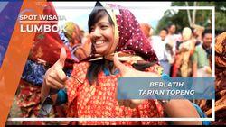 Keceriaan Dalam Berlatih Tarian Topeng Lumbok Lampung Barat