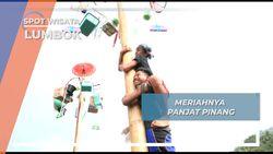 Seru dan Meriahnya Panjat Pinang di Lumbok Lampung Barat