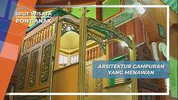 Masjid Jami Sultan Syarif Abdurrahman Pontianak, Percampuran Unsur China, Arab dan Eropa