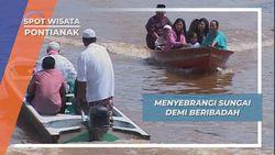 Membelah Sungai Sungai Kapuas Untuk Beribadah di Masjid Jami Sultan Syarif Abdurrahman