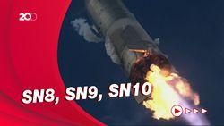 Beda 3 Uji Coba Roket Starship SpaceX yang Berakhir Ledakan