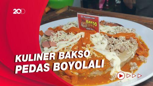 Uniknya Bakso Pizza Pedas di Boyolali