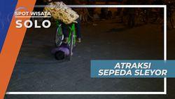 Bukan Sirkus, Namun Atraksi Sepeda Sleyor ini Bikin Deg-degan, Solo