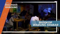 Tempat Kongkow Unik, Makan Enak Sambil Nonton Film Jadul, Bandung