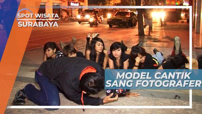 Jeprat-jepret Model Cantik Siap Berpose, Surabaya