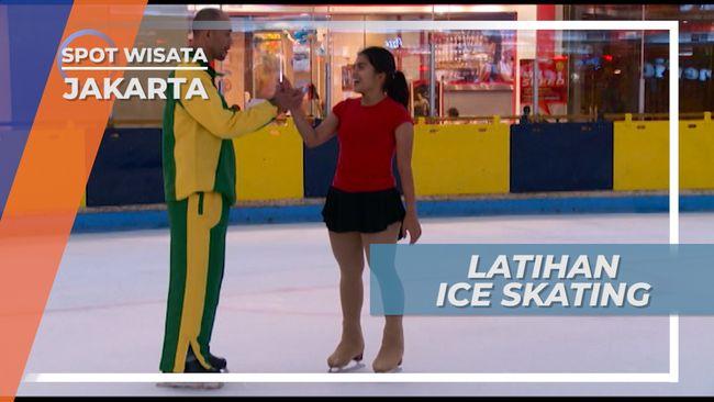 Berlatih Berbagai Tehnik Ice Skating, Jakarta