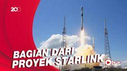 Detik-detik Roket SpaceX Luncurkan 60 Satelit Internet