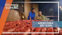 Sei Sapi, Kayu Bakar dan Daun Pohon Kesambi Kunci Rahasia Kuliner Daging Asap Kupang