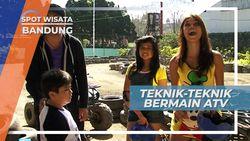 Menikung Cepat Bersama ATV Di Sirkuit Mini di  Bandung Jawa Barat