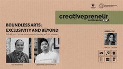 BNI Creativepreneur: Boundless Arts: Exclusivity And Beyond