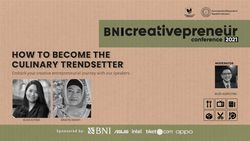 BNI Creativepreneur: How to Become The Culinary Trendsetter