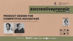 BNI Creativepreneur : Product Design For Competitive Advantage