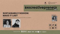 BNI Creativepreneur: Sustainable Fashion: Make It Last